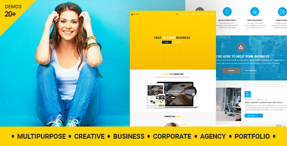 Connection - Multipurpose / Creative / Business / Corporate / Agency / Portfolio WordPress Theme