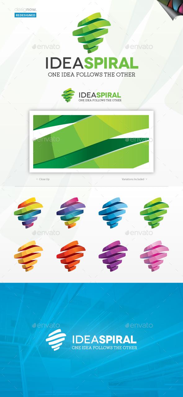 Idea Spiral Logo - Abstract Logo Templates