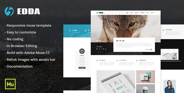Edda - Responsive Creative Portfolio and Multipurpose Template - Creative Muse Templates