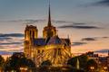 Backside of Notre Dame at dawn