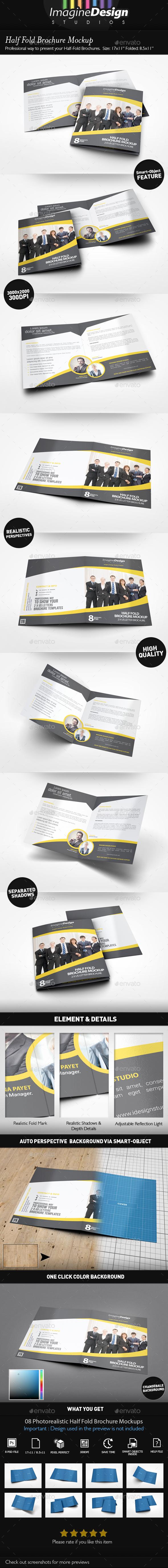 Half Fold Brochure Mockup - Brochures Print
