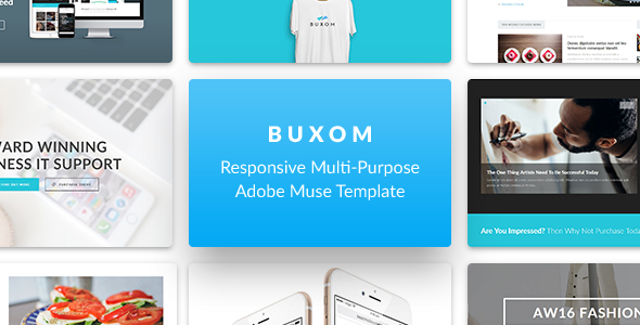 Buxom – Responsive Multi-Purpose Muse Template