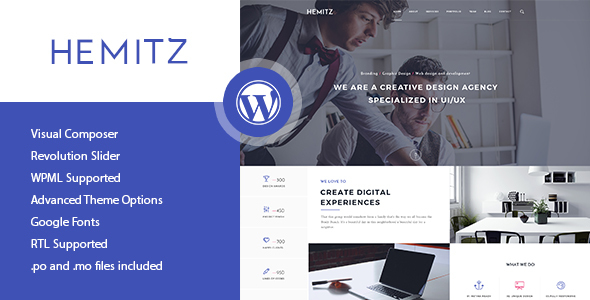 Hemitz – Modern Portfolio WordPress Theme