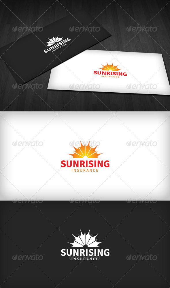 Sunrising Insurance Logo - Vector Abstract