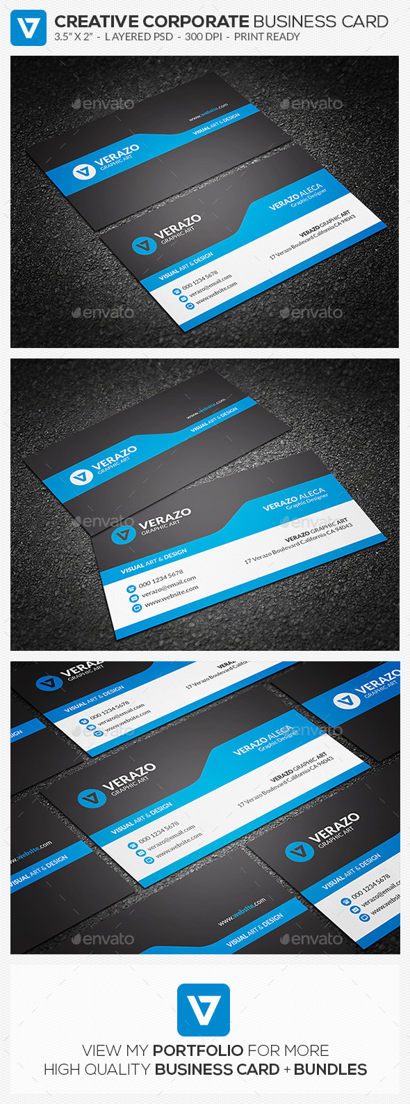 Modern corporate business card by verazo graphicriver modern corporate business card business cards print templates fbccfo Gallery