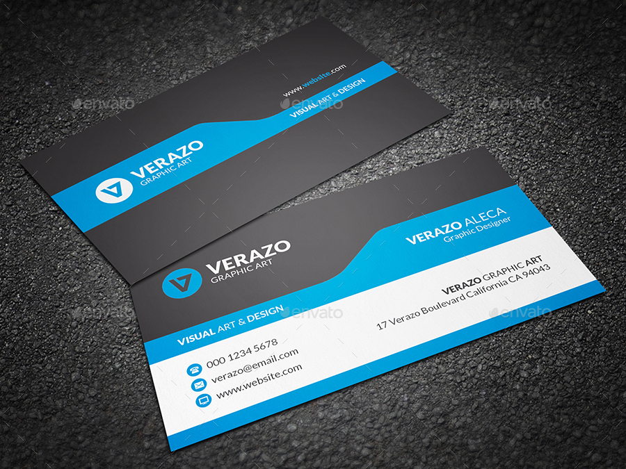 Modern Corporate Business Card by verazo | GraphicRiver
