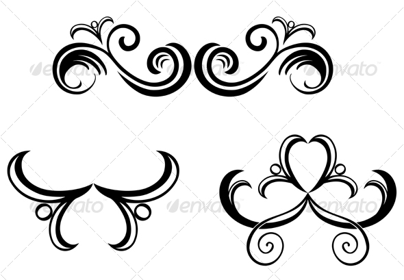 Vintage decorations - Flourishes / Swirls Decorative