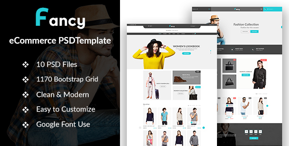 Fancy – eCommerce PSD Template - Fashion Retail
