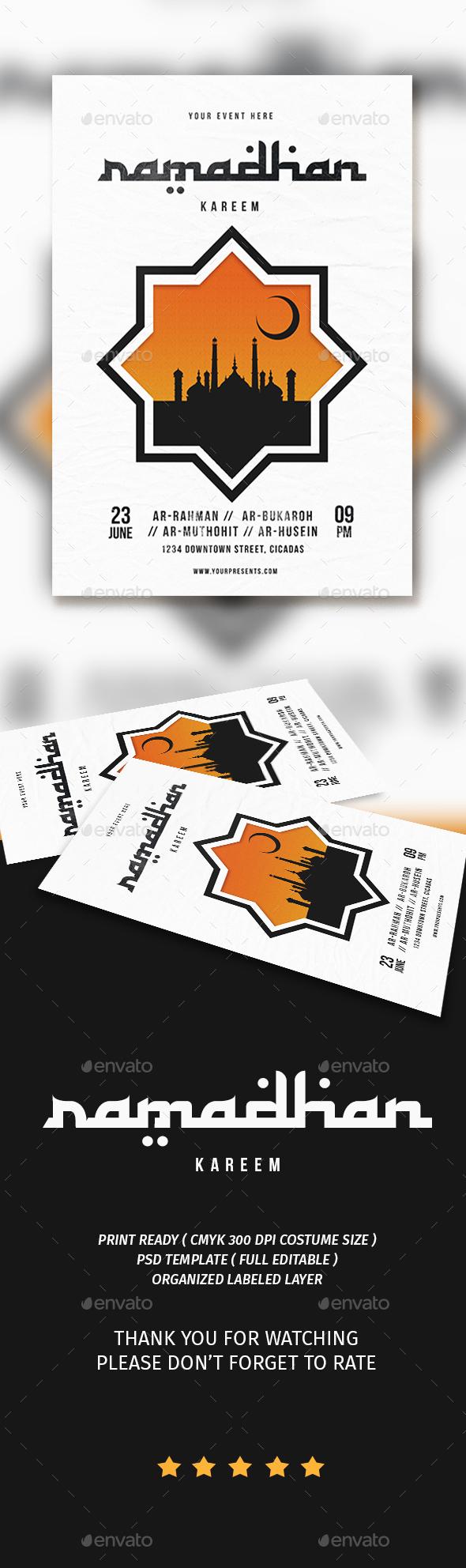 Ramadhan kareem flyer - Flyers Print Templates