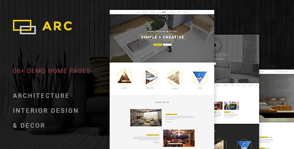 ARC - Interior Design, Decor, Architecture Business Template - Portfolio Creative