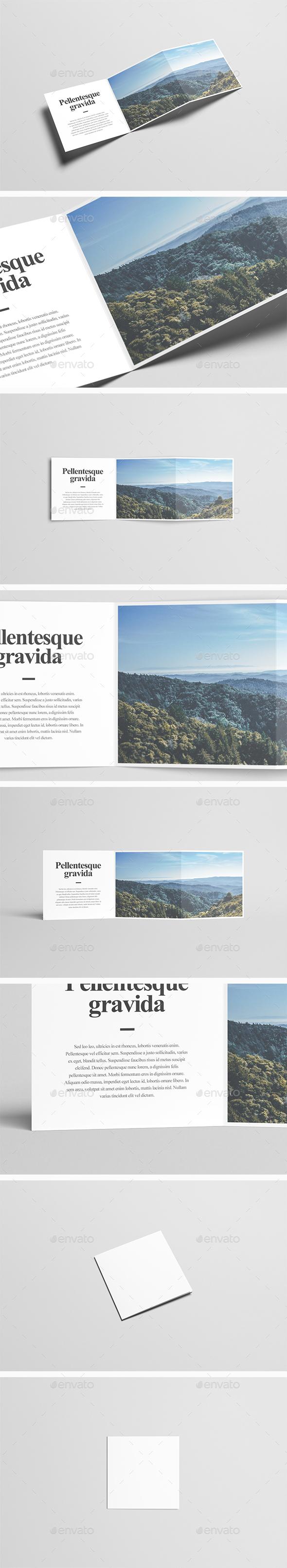 Square Z-Fold Brochure Mock-Up - Brochures Print