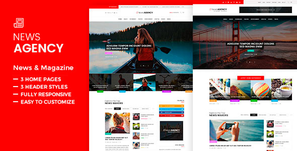 News Agency - News Magazine Newspaper WordPress Theme
