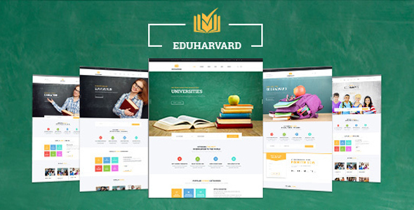 Eduharvard – Multi-Concept Education & Courses WordPress Theme