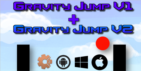 Gravity Jump V1 + V2 - HTML5 Game (Construct 2 - CAPX) - CodeCanyon Item for Sale
