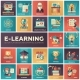 E-learning - Modern Flat Design Isquare Icons - GraphicRiver Item for Sale