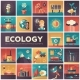 Ecology - Modern Flat Design Isquare Icons - GraphicRiver Item for Sale