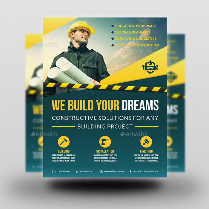 construction business flyer vol 4 by owpictures