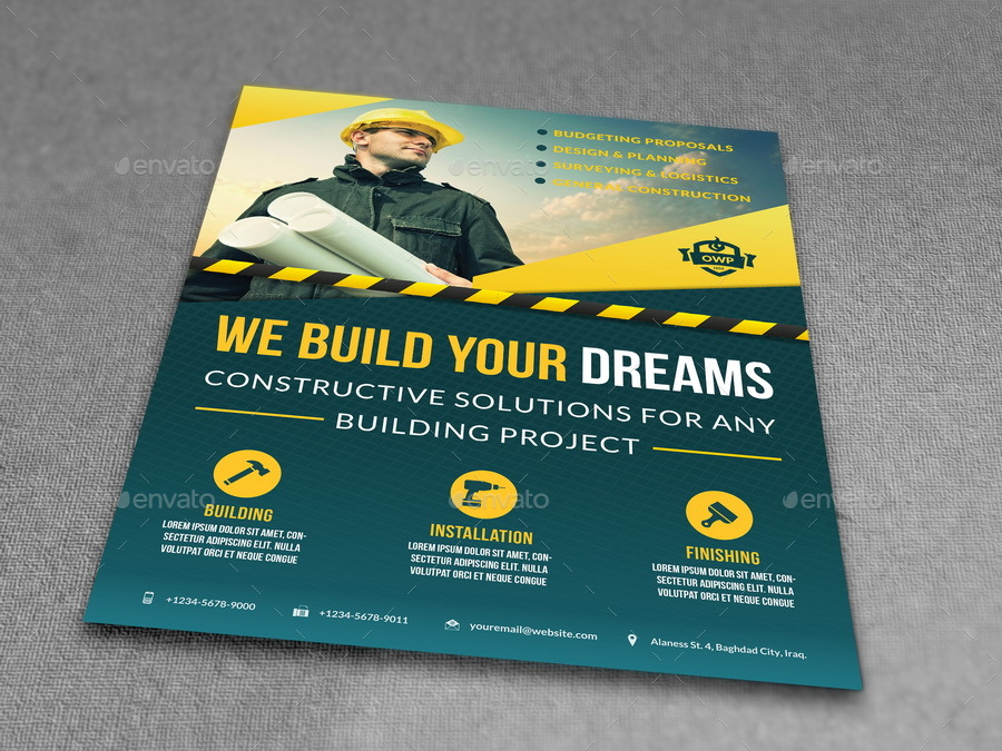 Construction Business Flyers Dolapgnetband