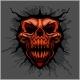 Aggressive Skull for Motocross Helmet - GraphicRiver Item for Sale