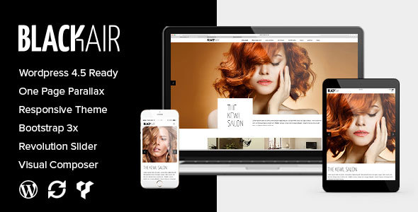 Blackair – One Page WordPress Theme for Hair & Beauty Salon