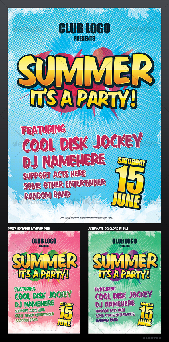 Summer Party / Nightclub Poster - Clubs & Parties Events