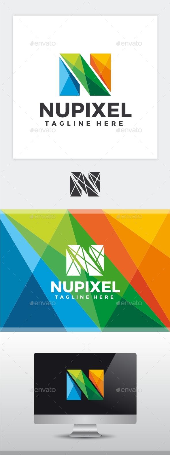 Nu Pixel - Letter N Logo - Letters Logo Templates