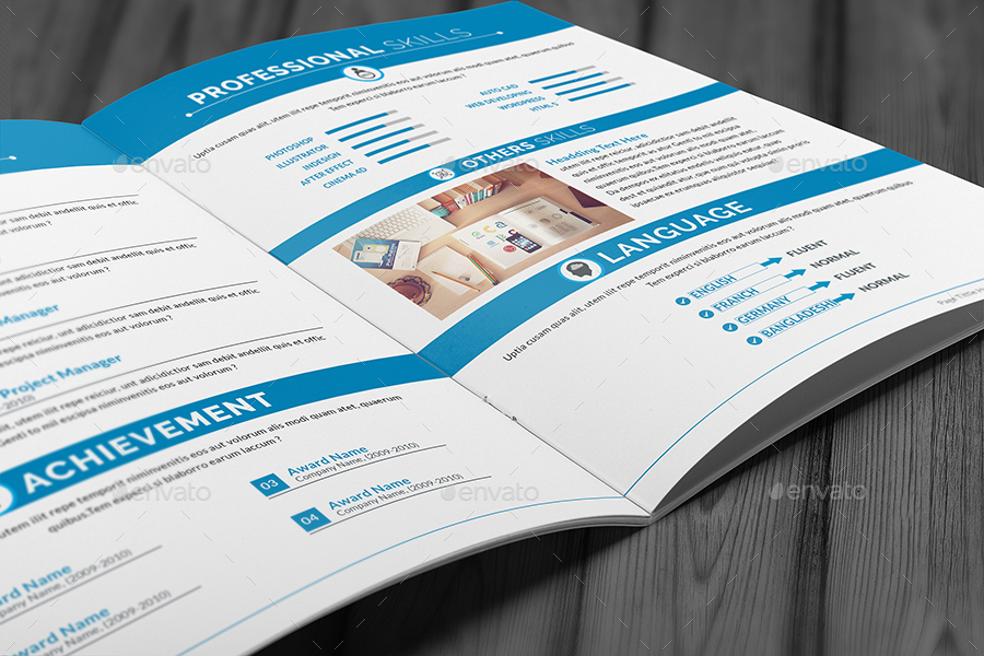 Resume Booklet Design _8 Pages by Al-Mamun | GraphicRiver