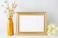 Landscape gold frame mockup - PhotoDune Item for Sale