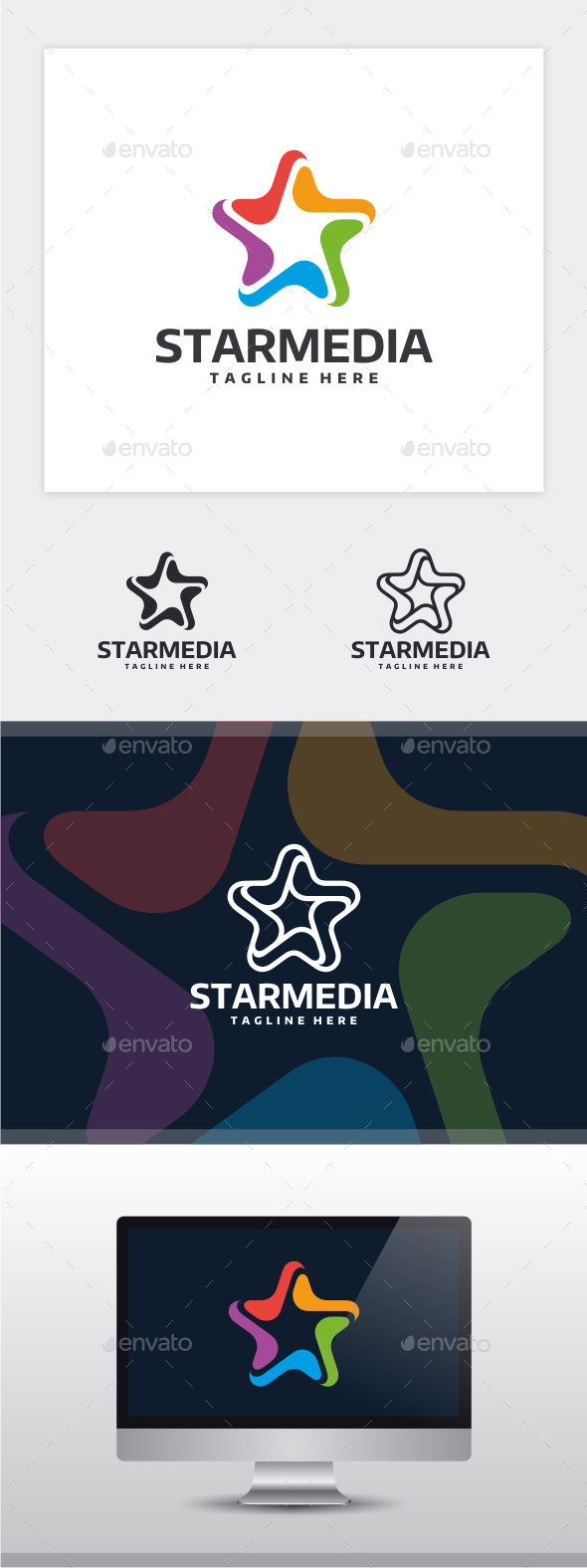 Star Media Logo - Vector Abstract