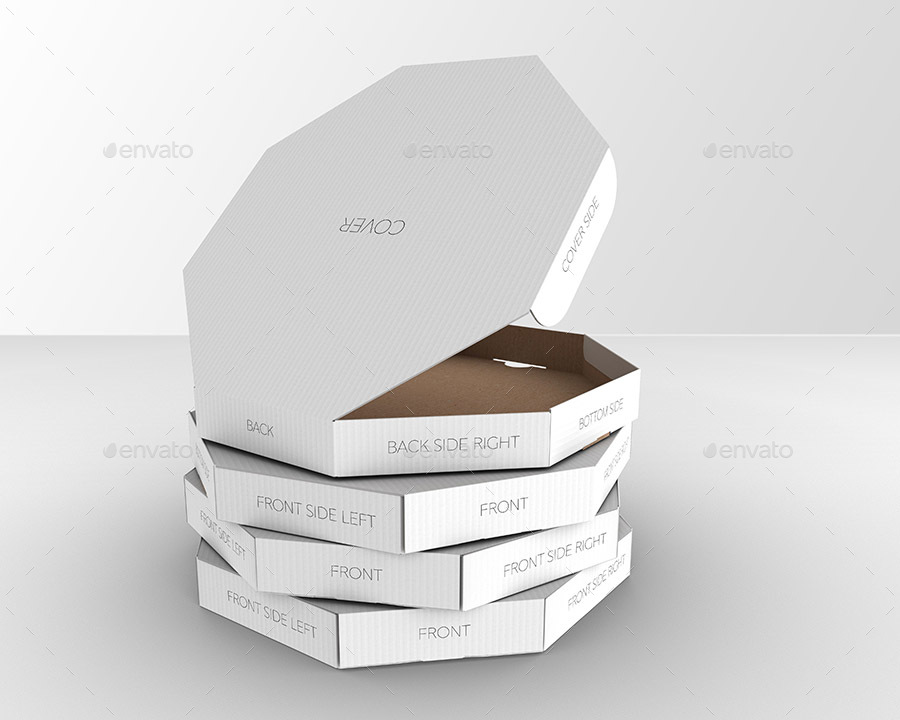 packaging mock up octagon pizza box by ina717 graphicriver