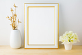 Frame mockup with white flowerpot - PhotoDune Item for Sale