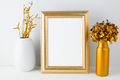 Frame mockup with golden decor - PhotoDune Item for Sale