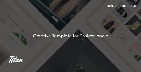 Titan | Creative HTML5 Template