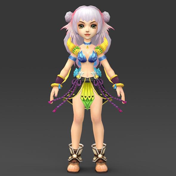 Cartoon Character Eilu - 3DOcean Item for Sale