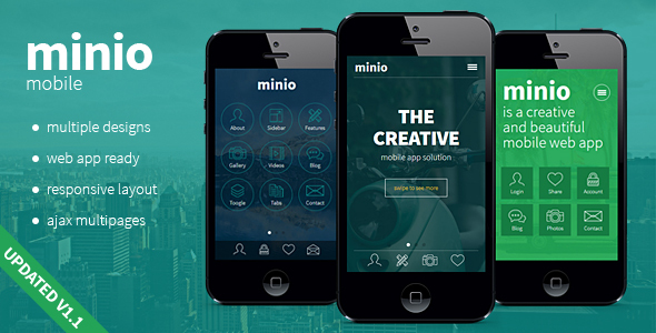 minio - HTML Mobile Template - Mobile Site Templates