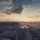 Aerial View Of Highway Interchange And Dark Clouds - VideoHive Item for Sale