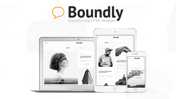 Boundly – Beautiful Blog HTML Template