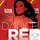 Flyer Sexy Red Dance Girl - GraphicRiver Item for Sale