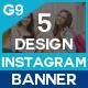 Instagram Banner - 5 Design - GraphicRiver Item for Sale