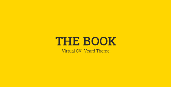 The Book : Personal vCard Template