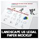 Landscape Us Legal Flyer Mockup - GraphicRiver Item for Sale