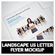 Landscape Us Letter Flyer Mockup - GraphicRiver Item for Sale