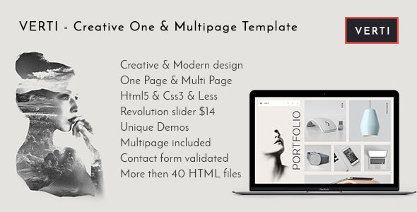 Verti - Creative OnePage & MultiPage Template - Creative Site Templates