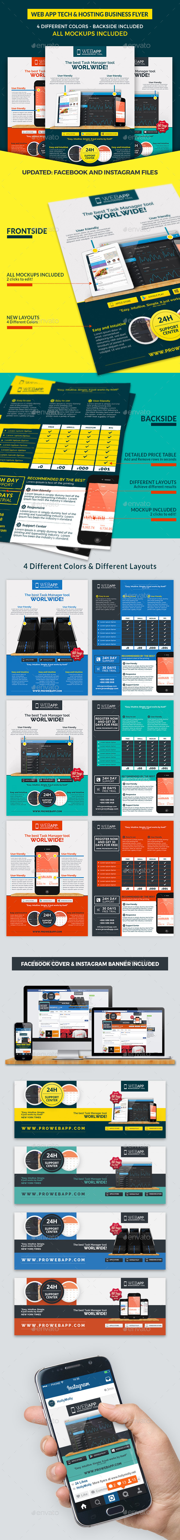 Web App Tech & Hosting Business Flyer - Commerce Flyers