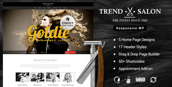 Trend Salon - Beauty Parlor, Hair Salon WordPress Theme