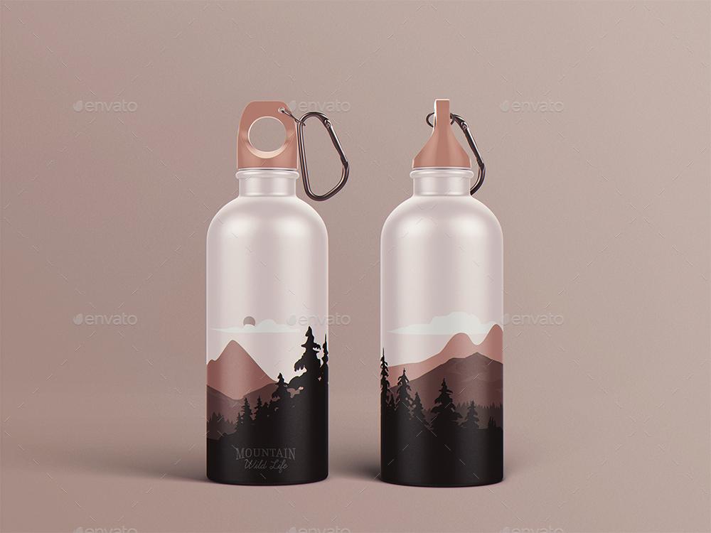 Reusable Water Bottle Mockup By Goner13 Graphicriver