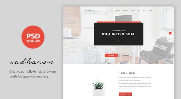 Sadharon – Creative Portfolio PSD Template