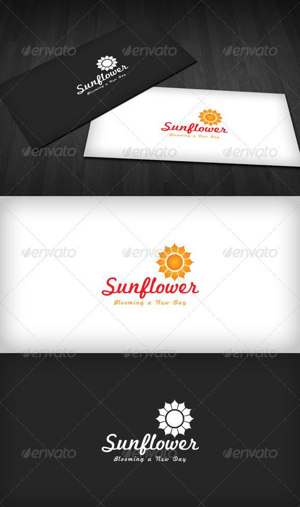 Sunflower Logo - Nature Logo Templates