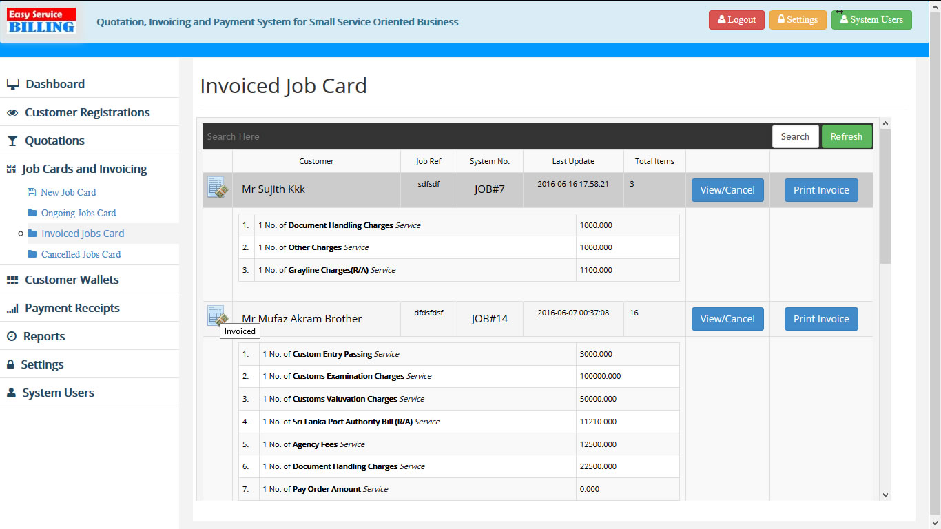 EasyService Billing PHP Scripts For Quotation Invoice Payments - Invoice payment software