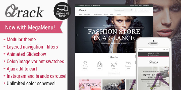 Qrack - Responsive Shopify Theme - Fashion Shopify